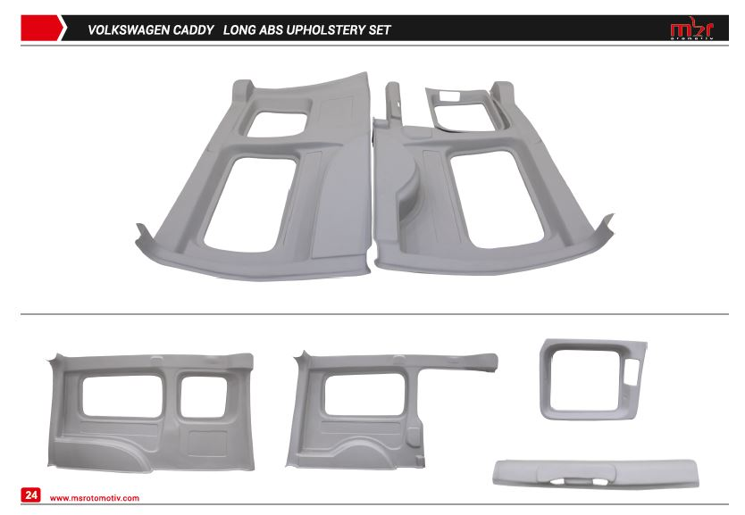 VOLKSWAGEN CADDY LONG CHASES SIDE UPHOLSTERY SET